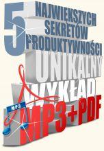 książka 5 największych sekretów produktywności (Wersja elektroniczna (PDF))
