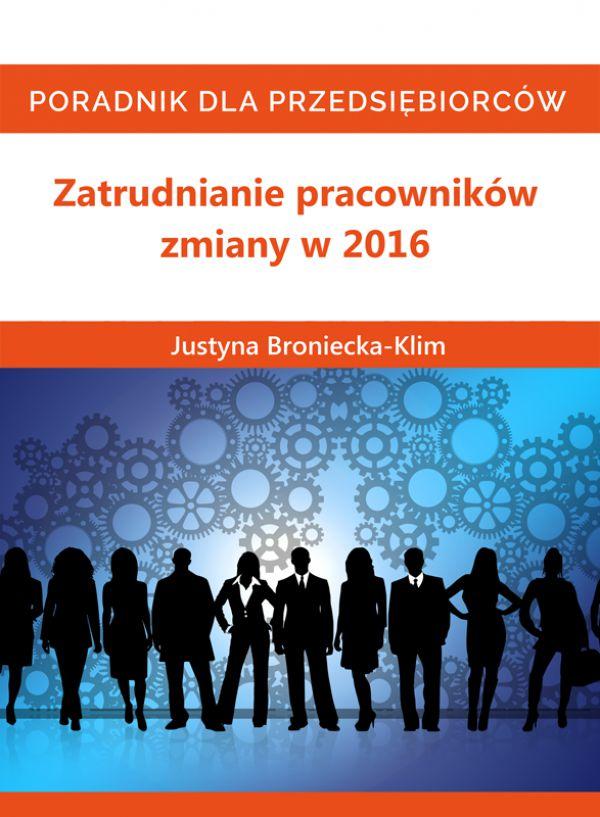 Zatrudnianie pracowników zmiany w 2016 (Wersja audio (MP3))