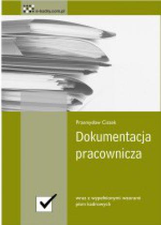 Okładka Dokumentacja pracownicza