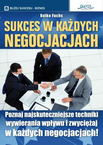 Okładka Sukces w każdych negocjacjach