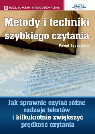 Okładka Metody i techniki szybkiego czytania
