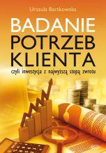okładka książki Badanie potrzeb klienta